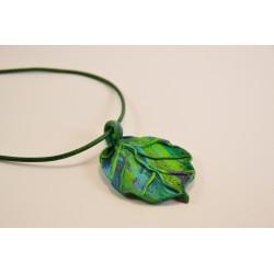 Kette, Blatt, blau-grün