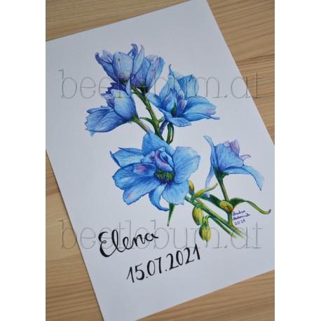 Poster Geburtsblume