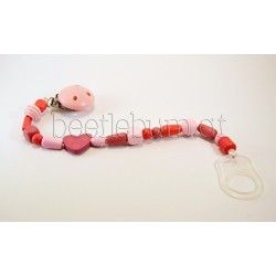 Schnullerkette, rosa