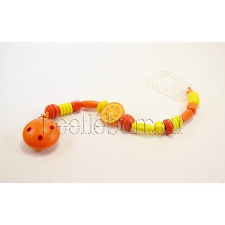 Schnullerkette, orange