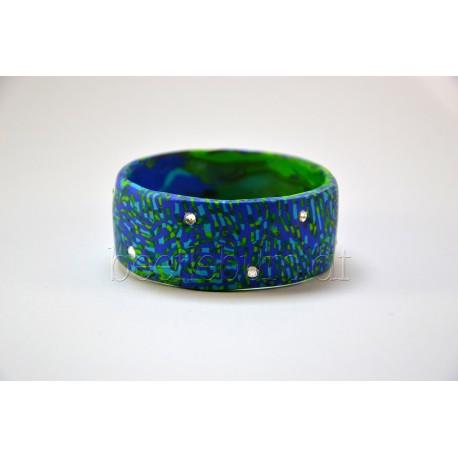 """Armreifen """"Diva"""", blau-grün"""